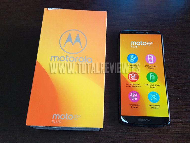 Motorola E5 Plus: un teléfono móvil barato con una batería eterna