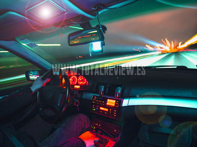 luces LED de coche de interior